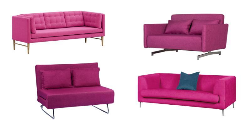 sofas in pink mutige akzente setzen wohnlandschaften. Black Bedroom Furniture Sets. Home Design Ideas