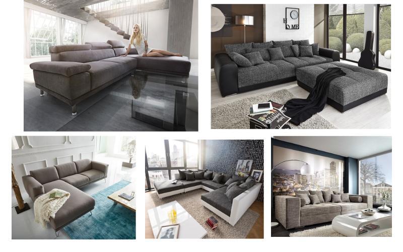 wohnzimmer teppich modern grau türkis mit konturenschnitt malmo